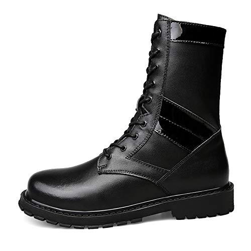 Uomo Uomo Moderno alla Imitazione Dimensione Stivali EU Warm 37 centrali centrali centrali shoes Warm Opzionale Moda con Black Xiazhi Nero Color Alti Suola Casual da in Alta Stile Stivali Velvet qAIxwO
