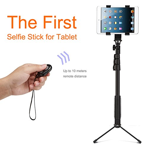 accmor bluetooth extendable selfie stick with tripod stand for smartphones t. Black Bedroom Furniture Sets. Home Design Ideas