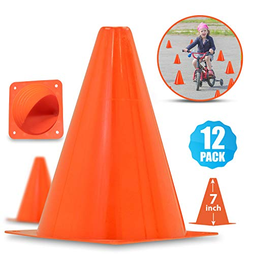 """Multipurpose 7"""" Traffic Cones For Outdoor Activities 