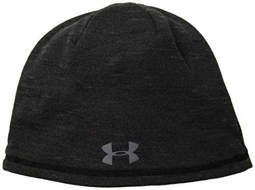 Under Armour Winter Beanie - Under Armour Men's ColdGear Reactor Elements Beanie, Black (001)/Graphite, One Size