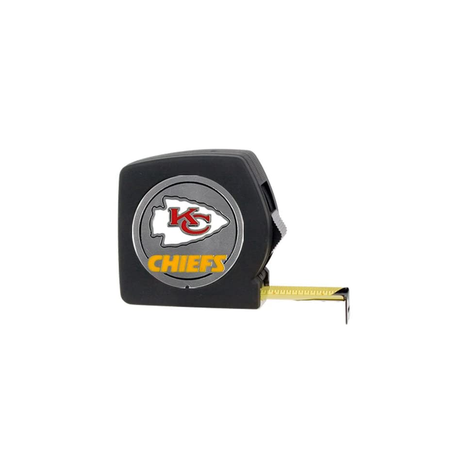 BSS   Kansas City Chiefs NFL 25 Black Tape Measure