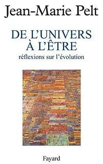 De l'univers à l'être : reflexions sur l'évolution