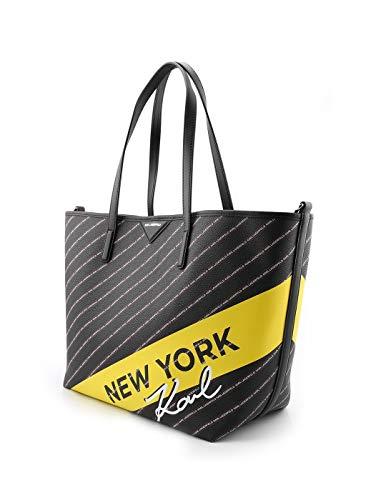 Nero 91kw3008 Karl Lagerfeld Borsa Pvc Shopping Donna R64Twqz