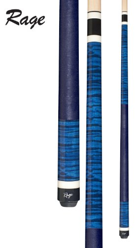Rage RG-120 Graphic Royal Blue Curly Maple Cue, 19-Ounce Curly Maple Pool Cue