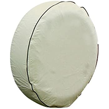 Camco 45355 Vinyl Spare Tire Cover (28 inches  , off-white)