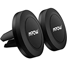 Car Mount, [2 Packs]Mpow Mount Magnetic Air Vent Phone Holder for iPhone 7 / 7 Plus / 6S / 6S Plus / Galaxy S7 / Galaxy S7 Edge / LG / HTC / Nexus--Black