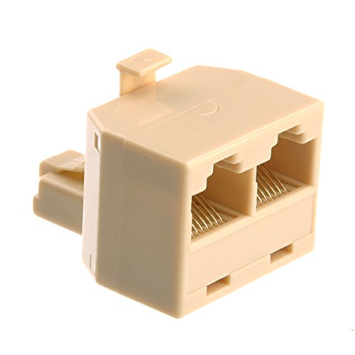 RJ45 Ethernet Network Cable Extension Coupler Connector Beige - 1