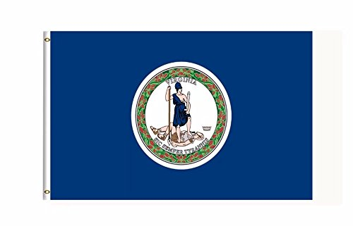 DFLIVE Virginia US State Flag Banner 3Ft x 5Ft Polyester Printed with Grommets