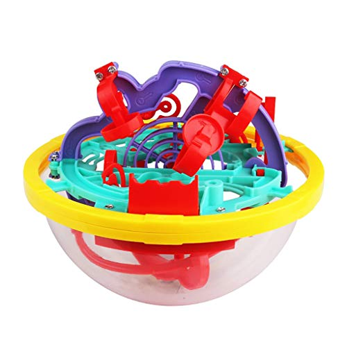 Molyveva Labyrinth Puzzle Brain Teaser Game 3D Maze Ball Toy 100 Barriers for Kids Education Toys]()