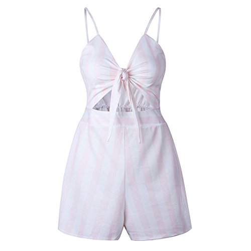 Playsuit 10 Size Summer UK Jumpsuit Striped UK Striped Shorts Off Ladies Holiday Size Mixed Pink Shoulder Color UK 10 Dress Womens Mini FfSRqYIa