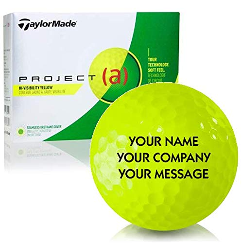 - Taylor Made Project (a) Yellow Personalized Golf Balls