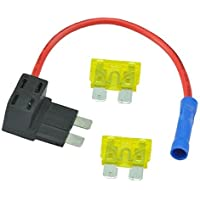 AutoEC Add-A-Circuit Blade Style ATC Low Profile Fuse Holder Fuse Tap (1 Set)