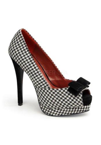 talons à Chaussures Couture Pinup Schwarz femme Weiss wqCtEEUPpx