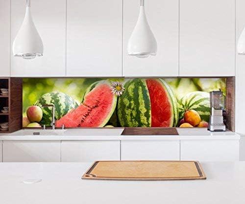 Aufkleber Küchenrückwand Obst Melone Beeren Küche Pfirsiche Folie Selbstklebend Dekofolie Fliesen Möbelfolie Spritzschutz 22a827 Höhe X Länge 60cm X 150cm Küche Haushalt