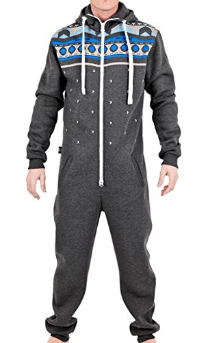 Juicy Trendz Mens Printed Onesie Hoodie Jumpsuit Playsuit All In One Piece L