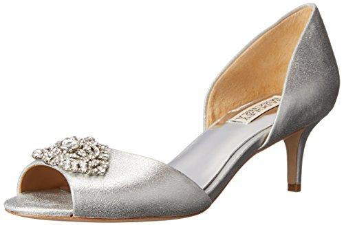 Badgley Mischka Womens Petrina II DOrsay Pump Silver 5 M US