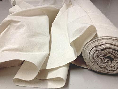 100% Coton Calico - Couleur Naturelle - Rouleau de 50m