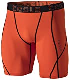 TM-MUS17-ORG_Medium Tesla Men's Compression Shorts Baselayer Cool Dry Sports Tights MUS17