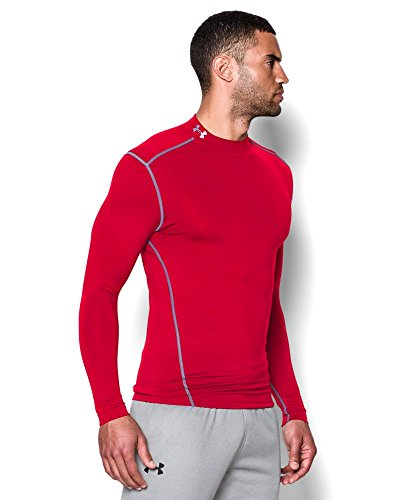 Under Armour Men's ColdGear Armour Compression Mock Long Sleeve Shirt, Red /Steel, XXX-Large by Under Armour (Image #2)