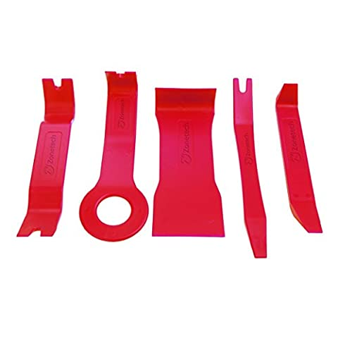 Zone Tech Premium 5-Piece Auto Trim Upholstery Removal Kit - No Scratch Premium Auto Car Door Interior Handy Pry and Removal (Trim Pad Removal Tool)