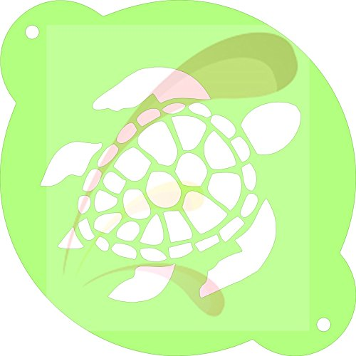 Sea Turtle, summer, beach, Cookie stencil, Cake Stencil, Coffee Stencil, Candy Stencil, Cupcake stencil for Royal Icing, powders, sugars, edible glitters and Airbrushing