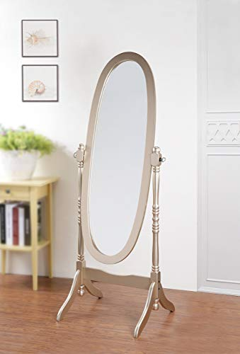 Roundhill Furniture 3488GL Queen Anna Style Floor Cheval Mirror, Gold (Full Length Mirror Gold Frame)