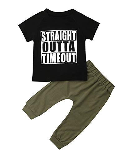 Urkutoba Unisex Baby Autumn Winter Hooded T-Shirt Infant Boys Girls Cotton Hoodies with Muff Pockets (0-6 Months, T-Shirt Pants -