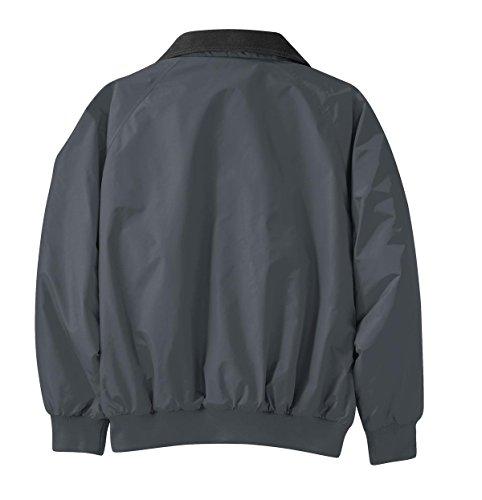 Chaqueta Black para hombre Parka Steel Grey Port True Authority 5fwq8gqa