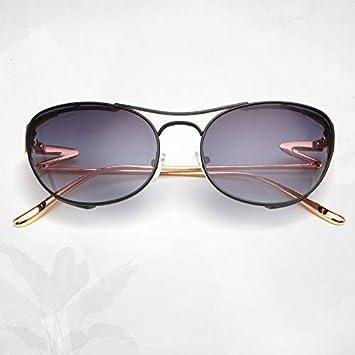 JJHR Gafas de sol Moda Doble Haz Gafas De Sol Espejo Patas ...