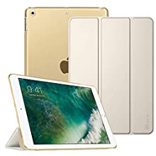 Fintie iPad 9.7 2018/2017 Case - Lightweight Slim Shell Cover with Translucent Frosted Back Protector Supports Auto Wake/Sleep for Apple iPad 9.7 6th 5th Generation, Champagne Gold