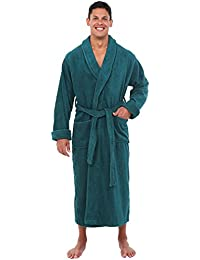Mens Turkish Terry Cloth Robe, Long Cotton Bathrobe