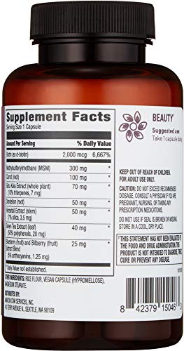 Amazon Brand Revly Hair, Skin, & Nails Complex, 90 Capsules, 3 Month Supply, Vegan