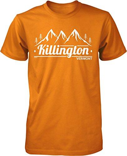 (NOFO Clothing Co Killington, Vermont Men's T-Shirt, XXL Orange)