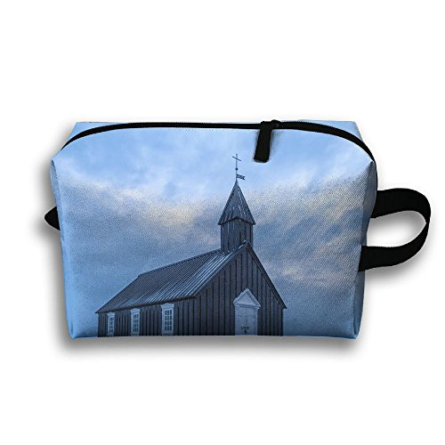Pengyong Church Is Covered With Snow Small Travel Toiletry Bag Super Light Toiletry Organizer For Overnight Trip Bag by Pengyong