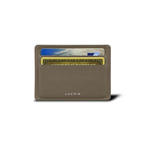 Lucrin 4 Kartenetui - Glattleder Dunkeltaupe