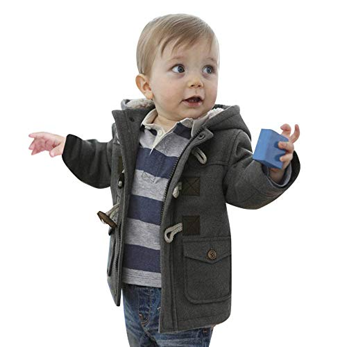 ba6a882c04e4 Baby Girl Boy Jacket Outfits Fall Winter Button Zipper Hooded Coats ...