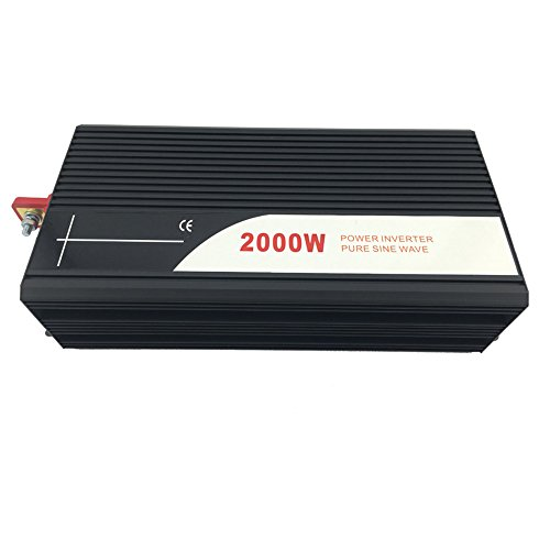 Xijia 2000W (Peak 4000W) Pure Sine Wave power Inverter DC 24V 48V to AC 120V 60HZ Solar converter For Home Use car (DC 24V to AC 120V) by Xijia