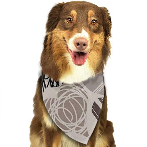ROCKSKY Pet Dog Bandana Triangle Bibs Scarf New Gray Hearts Hankie Kerchief for Pet Cats and Baby Puppies - Wedding Dog Bandana Great Dog Gift Idea ()