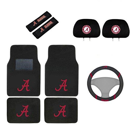- MULTI_B Alabama Crimson Tide Floor Mat, Headrest Wheel Cover and Shoulder Pads Gift Set