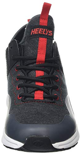 Heelys Boys' Piper Tennis Shoe Black Heathered/Red 3 M US Big Kid by Heelys (Image #4)