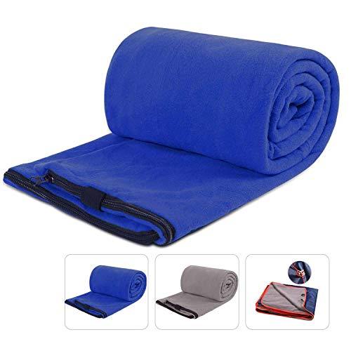 REDCAMP Fleece Sleeping Bag Liner for Adult Warm or Cold Weather, 75
