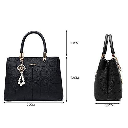 Crossbody Casual Fashion Shoulder Rubysports Bag Women Bags Black Purse Hand Satchel gqwnXA5x7