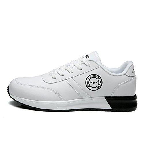 Scarpe Da Corsa Da Uomo Comode Scarpe Da Ginnastica Traspiranti Traspiranti In Pelle Di Mucca Bianche Sneakers Bianche
