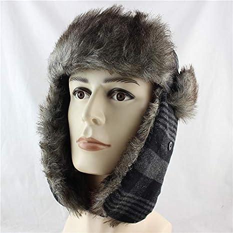 ... Faux  catch 34161 6ebd3 ForShop New Men Bomber Hats Winter Trooper Trapper  Hat Ushanka Russian Hat with ... 9e2fb6c71147