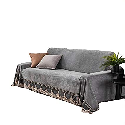Pleasing Jyphm Plush Sofa Slipcover Vintage Lace Suede Couch Cover Anti Slip Solid Color Sofa Cover Anti Dust Stain Proof Furniture Protector For Pet Dog Pabps2019 Chair Design Images Pabps2019Com