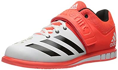 adidas Performance Men's Shoes | Powerlift.3 Cross-Trainer, Solar Red/Black/White, 7.5 M US