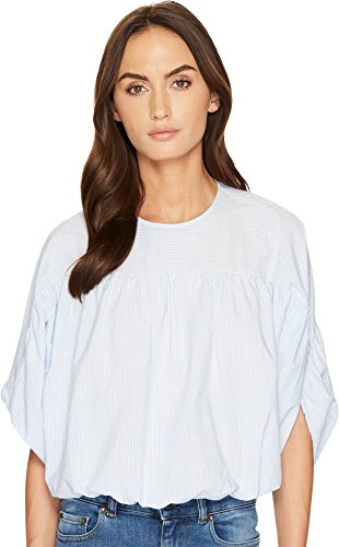 Red Valentino Women's Striped Cotton Top Nube - Top Valentino