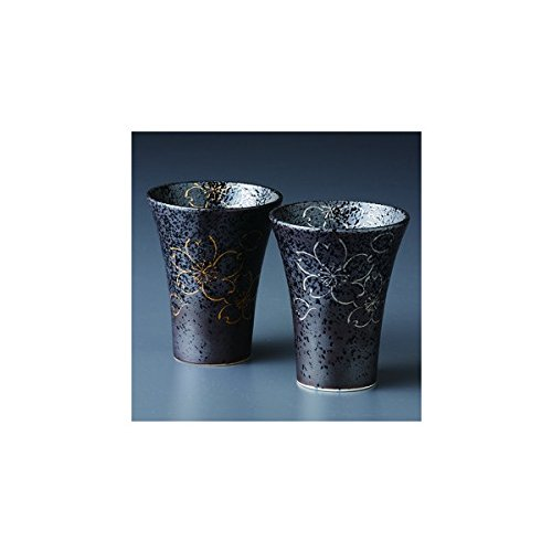 Japanese Porcelain Hasami ware gift. Set of 2 yoshino karugaru beer cup with paper box. -