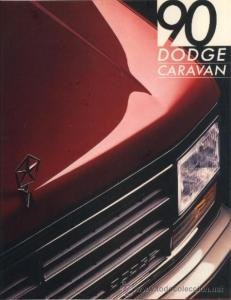 1990 DODGE CARAVAN - PRESTIGE COLOR SALES BROCHURE CATALOG - USA !! EXCELLENT - Sales Caravan Usa