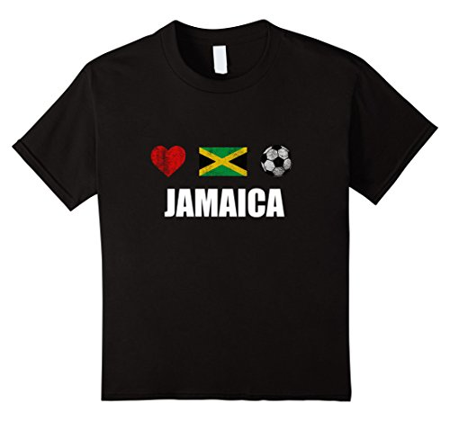 Kids Jamaica Football Shirt - Jamaica Soccer Jersey 8 Black